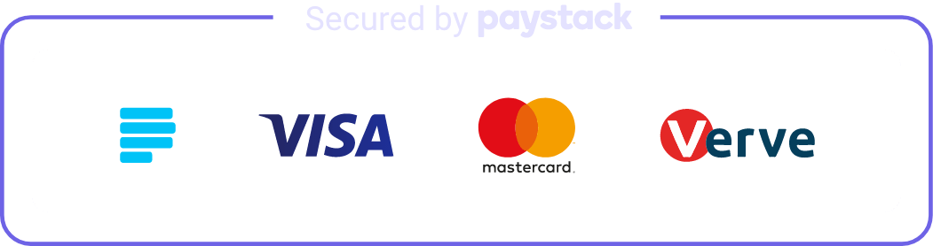 Secured by Paystack badge