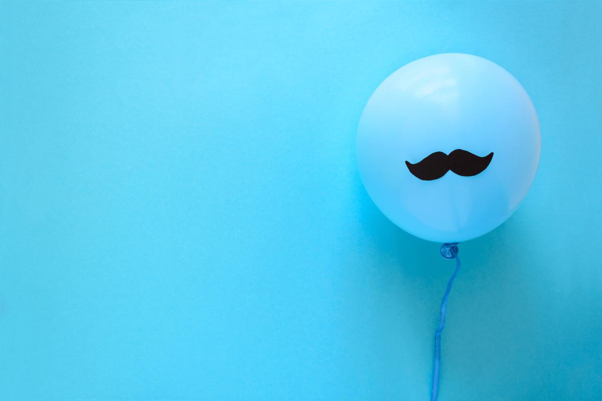 movember mustache balloon